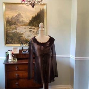 Komarov Ombré Sexy Sheer Dress
